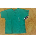 Cherokee Scrubs 4700 V Neck Scrub Top Surgical Green by Workwear free sh... - $14.84
