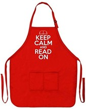 ThisWear Funny Reading Gift Keep Calm Read On Funny Apron Kitchen (Apron... - $31.54