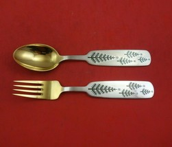 Christmas by A. Michelsen Sterling Silver Fork and Spoon Set 2pc 1950 Fo... - $187.11