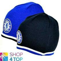 CHELSEA KNITTED BLUE BLACK BEANIE CAP HAT REVERSIBLE FOOTBALL SOCCER CLU... - $14.15