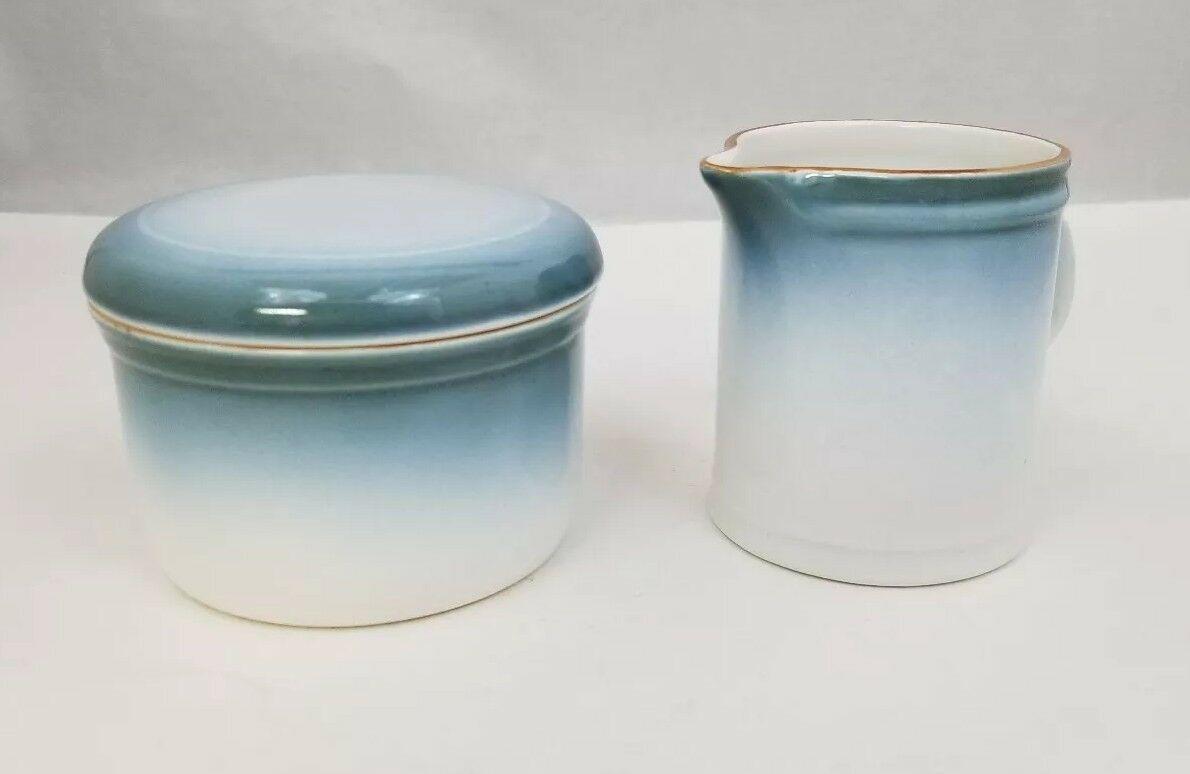 Nikko Gradiance Creamer and Sugar Bowl Azure Leafette Dishwasher Microwave Safe image 2
