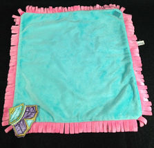 Disneyland Disney Babies Blanket for Dumbo Plush Blue Pink Yellow Fringe Wrap image 3