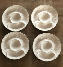 """Set of 4 California USA 452 Pottery serving plates trays 9.5"""" - $34.60"""