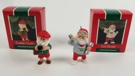 (Lot of 2) Hallmark Christmas Keepsake Ornament 1989 Camera Clause & Gym Dandy - $13.50