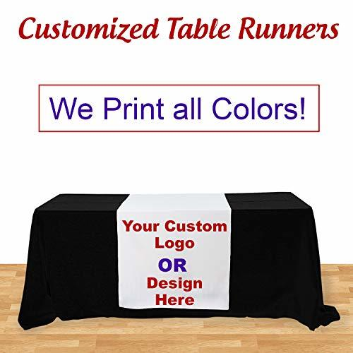 BANNER BUZZ MAKE IT VISIBLE Customize Table Runner Cloth Using Your Text and Log