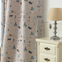 Cat Printed Window Screening Voile Tulle / Blackout Cloth Shading Curtai... - $84.00