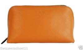 Coach Orange Peel Crossgrain Leather Cosmetic Case - $118.79