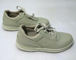 ROCKPORT PROWALKER Mens Beige Leather Casual Walking Shoes (Size 7.5) Sn... - $19.95