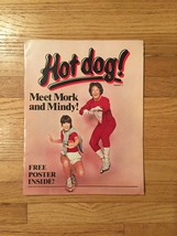 "Hot dog! magazine #1 ""Meet Mork and Mindy"" 1979 Scholastic Magazines"