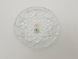 Bombay 24% Lead Crystal Plate Candy Nut Candle Dish Bowl Made in Slovaki... - $12.59