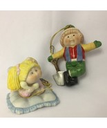 Cabbage Patch Kids 2 Ornaments 1984 The Legend 3.5 Inches Porcelain Vintage - $22.99