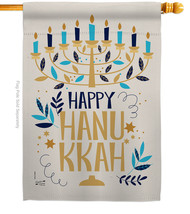 Happy Hanukkah - Impressions Decorative House Flag H137328-BO - $36.97