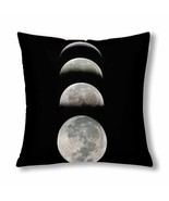 "InterestPrint? Phases of the Moon Throw Pillow Cover 18""x 18""(Twin Sides) - $18.08 CAD"
