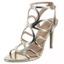 Christian Siriano KOKO Strappy Metallic Gold Chopout Pumps Sandals Size ... - $20.59