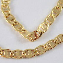 18K GOLD YELLOW CHAIN, SAILORS NAVY MARINER, FINELY WORKED, SHINY, MADE IN ITALY image 4