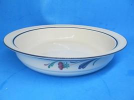 "Lenox Poppies On Blue Large Vegetable Serving Bowl EUC  2"" X 9 3/4"" - $38.22"