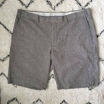 Greg Norman Gray & White Houndstooth Flat Front Men's Shorts Size 38 - $19.26