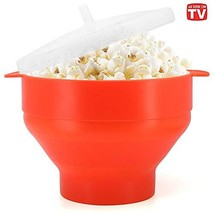 Microwaveable Silicone Popcorn Popper, BPA Free Collapsible Hot Air Microwavable