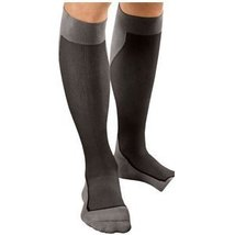 JOBST Sport Knee High 20-30 mmHg Compression Socks, Black/Grey, Small - $65.92