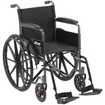 Drive Medical Silver Sport 1 With Full Arms and Footrest - $129.86