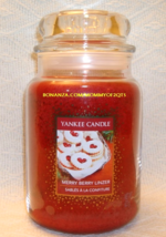 Yankee Candle Merry Berry Linzer Cookie Swap 22 Oz Jar European White Label - $24.00