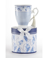 "Delton Products Tall Porcelain Mug, Englich Blue 4.6"" in Gift Box, 8131-9 - €13,47 EUR"