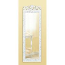 Long White Wood Wall Mirror - $34.95