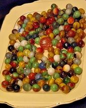 Group of 170 Marbles in Wine Glass with 1 Shooter AA18 - 1175M Vintage image 9