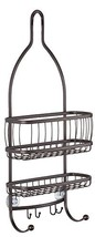 InterDesign York Metal Wire Hanging Shower Caddy, Extra Wide Space for S... - $28.86