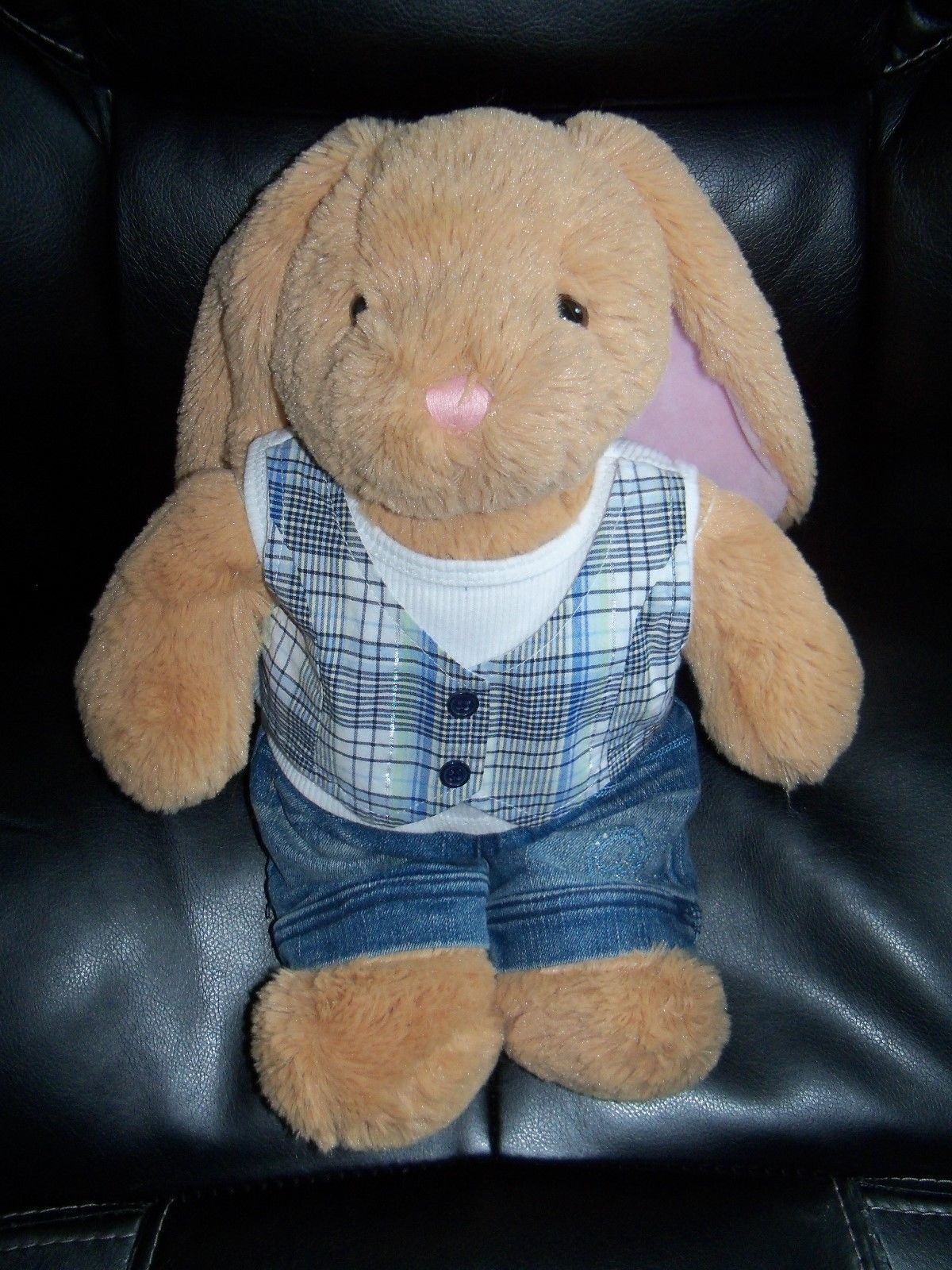 Primary image for Build a Bear BROWN RABBIT W/LIMITED TOO OUTFIT EUC