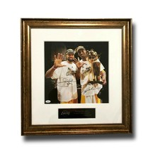 KOBE BRYANT / DEREK FISHER DUAL SIGNED LAKERS PHOTO FRAMED JSA COA AUTOG... - £805.27 GBP