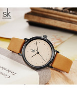 SK® Watches Women Simple Dress Watches Retro Leather Female Clock TopBra... - $24.06