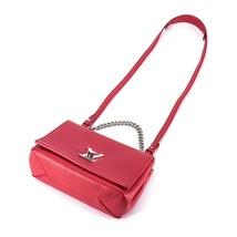 100% Authentic Louis Vuitton Red Rubis Lockme II BB Bag Receipt Mint image 7