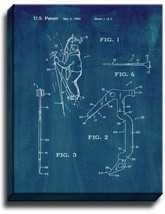 Ice Tool For Mountaineering Patent Print Midnight Blue on Canvas - $39.95+