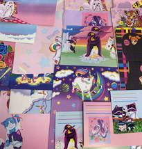32 Pc Lisa Frank Stationery Raccoons Markie Elephant Bees Stickers Postalette image 2