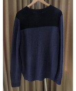 Prada Sweater Cashmere Pullover Navy Black 52 IT Excellent - $178.15