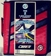 Case-it Zipper Binder 'The Z' Double 1 1/2 D Ring Binder Strap Handle Re... - $18.88