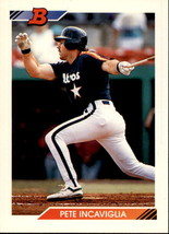 Pete Incaviglia 1992 Bowman Card #43 - $0.99