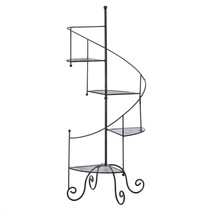 Tiered Metal Plant Stand, Outdoor Tall Spiral Showcase Decorative Plant ... - $76.99