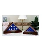 AMERICAN CASKET FLAG WITH PEDESTAL MEMORIAL BURIAL DISPLAY CASE SHADOW BOX - $541.49