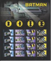 BATMAN 75th Anniversary First Class  (USPS)  FOREVER Stamp Sheet 20 - $15.95