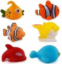 Baby Bath Toy 6 Pieces Chu Chu Colorful Animal Shape Bath Toys Bathing Toys - $35.39