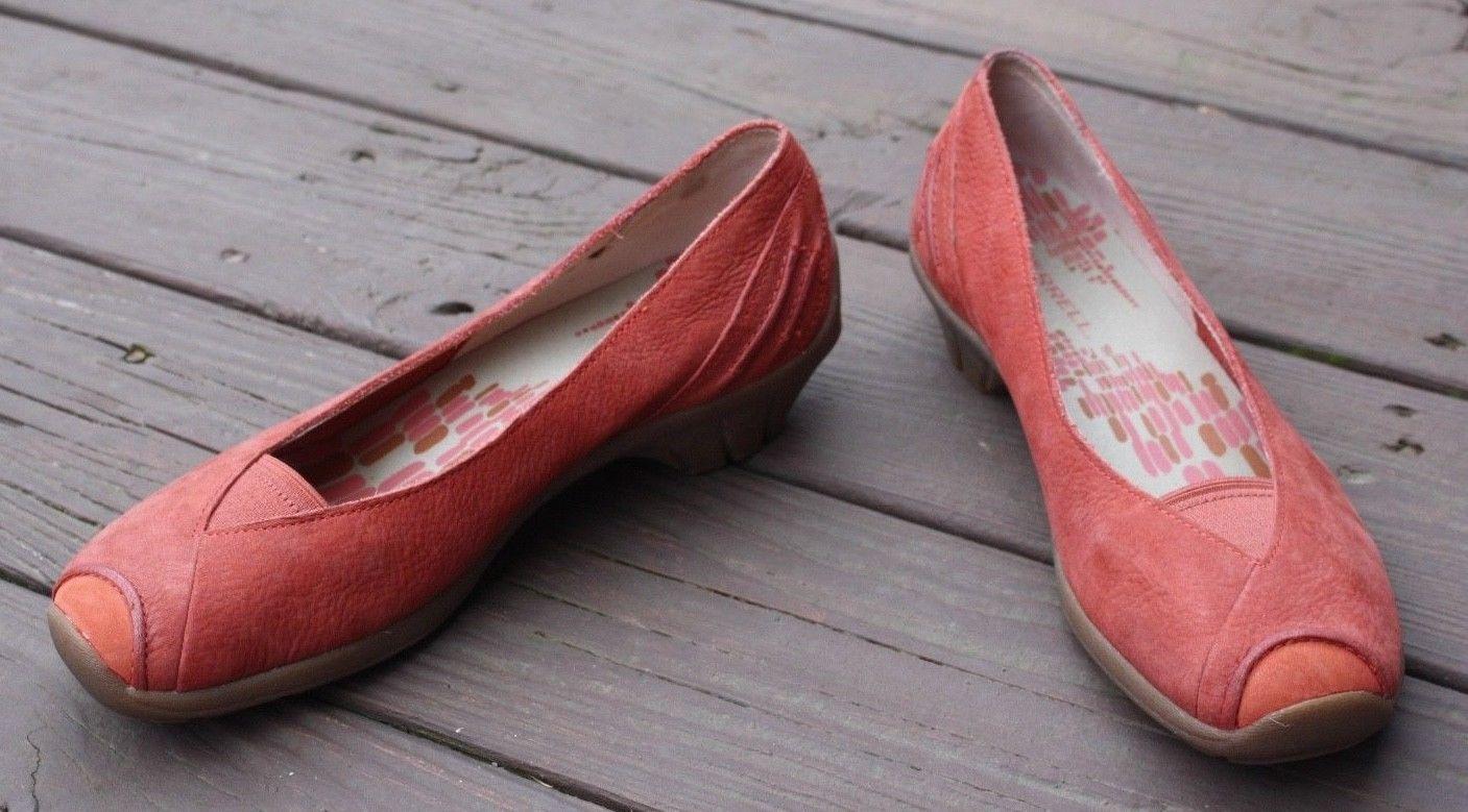 Merrell 39 US 8.5 Isabella Porcelain Rose Leather Nubuck Low Heel Slip On Shoes