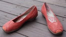 Merrell 39 US 8.5 Isabella Porcelain Rose Leather Nubuck Low Heel Slip O... - $30.40