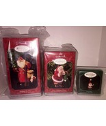 1998 HALLMARK COLLECTOR'S CLUB MEMBERSHIP KIT SET OF 3 ORNAMENTS! NEW IN... - $9.89