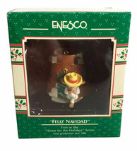 "Enesco Treasury of Christmas ""Feliz Navidad"" Vintage Christmas Ornament 1989 - $17.75"