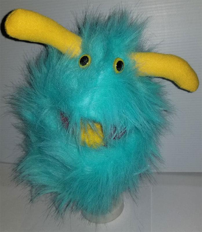 "B5 * Professional Teal ""Furgremlin"" w/Horns Muppet Style Ventriloquist Puppet"