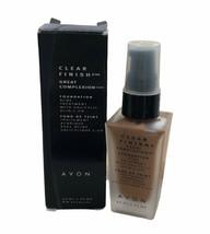 Avon NOS Rich Honey Clear Finish Foundation Acne Treatment EXP 01oz - $12.19