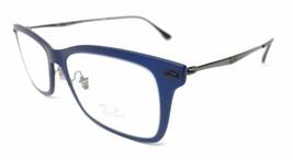 RAY BAN RB 7039 5451 LIGHTRAY TITANIUM DARK MATTE BLUE 53mm - 266 - $42.99