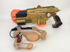 Tiger 2004 Phoenix LTX Lazer Tag Gold Gun w/ Shotgun Attachment + Glasses - $47.17